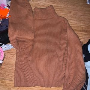 h and m squash color wool blend knit sweater
